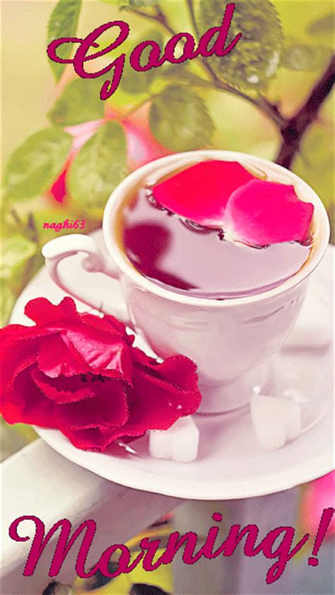 animated good morning quote  tea pictures