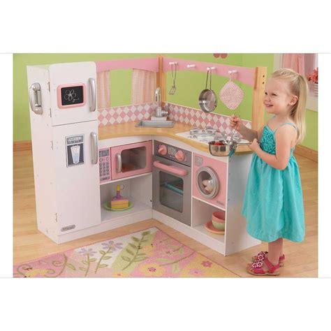 cuisine en bois en jouet cuisine pour enfant en bois grand gourmet corner kitchen