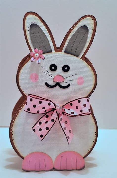cutting cafe easter bunny shaped cardtemplate