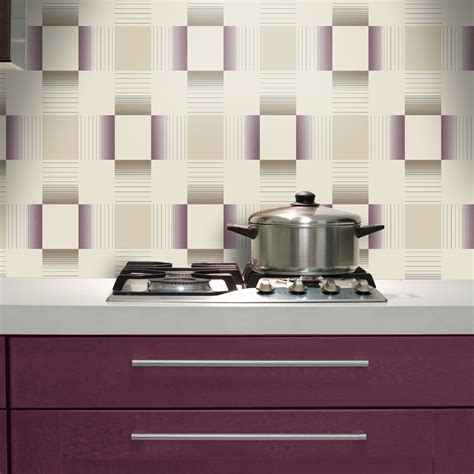 kitchen tile wallpaper holden hikari square stripe pattern embossed vinyl 3300