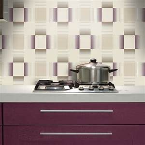 holden hikari square stripe pattern embossed vinyl With wallpaper for kitchen and bathroom