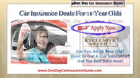 cheapest car insurance for 18 year car insurance for an 18 year