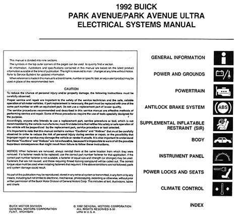 motor auto repair manual 1992 buick coachbuilder auto manual automobile fuse manual for a 1992 buick park avenue i have 1992 buick park ave the heater a