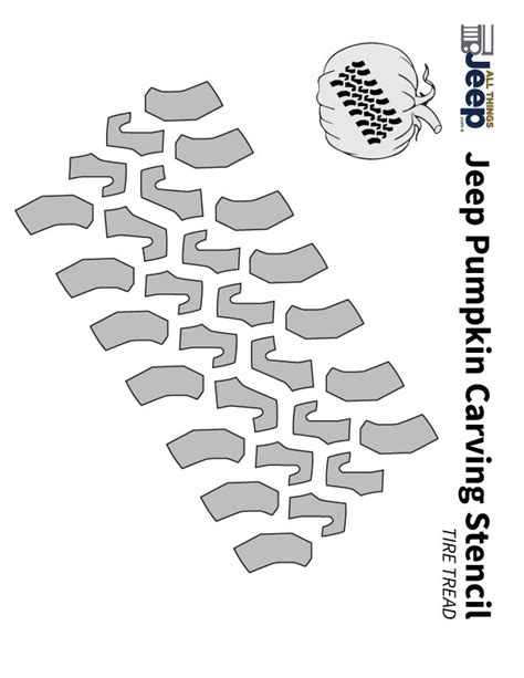 tire stenciel template all things jeep jeep pumpkin carving templates