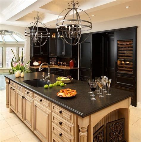 kitchens with different colored islands spectacular granite colors for countertops photos