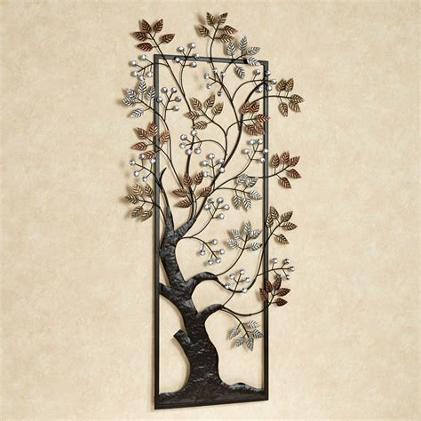 sun kissed branches metal tree wall art