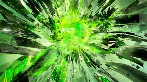 nvidia explosionen gruenen multiscreen wallpaper