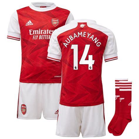 Arsenal Home Mini Kit 2020-21 with Aubameyang 14 printing