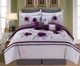 10 alyssa purple and gray comforter set