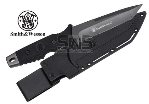 SMITH AND WESSON Kampfmesser, 130 mm Tanto-Klinge, 9Cr17 ...
