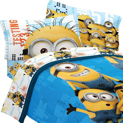 minion toddler bedding despicable me bedding set minions testing 123 bed