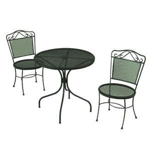green wrought iron 3 patio bistro set w3929 3pc gr