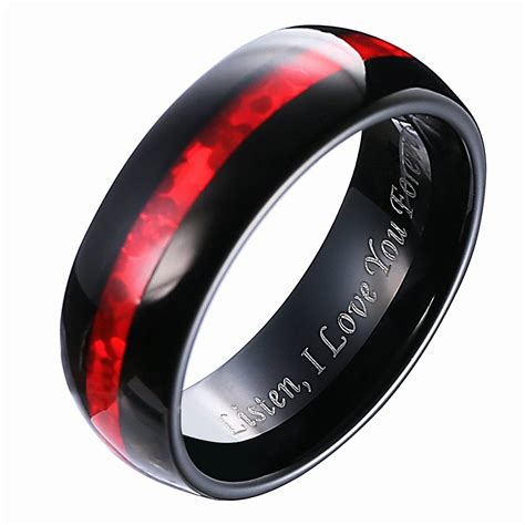 42 New Black And Red Wedding Rings  Wedding Idea. Hebrew Wedding Rings. Anniversary Gift Wedding Rings. Person Wedding Rings. 4life Rings. Spinner Rings. .75 Wedding Rings. Landscape Rings. Shatter Wedding Rings