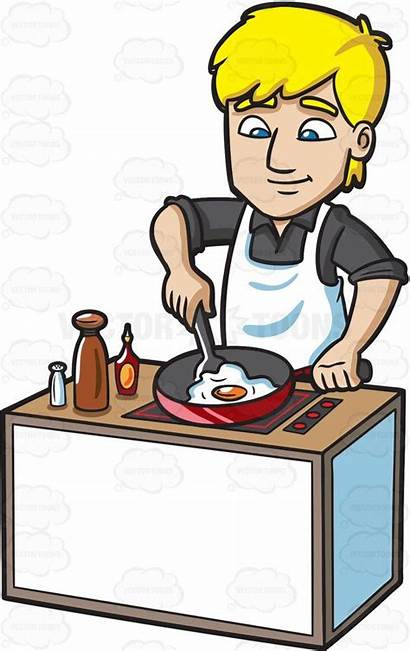 Cooking Clipart Egg Breakfast Clip Cooked Cartoon