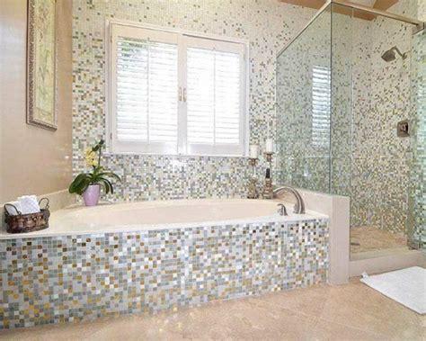Mosaik Fliesen Badewanne by Badezimmer Mit Mosaik Gestalten 48 Ideen Archzine Net