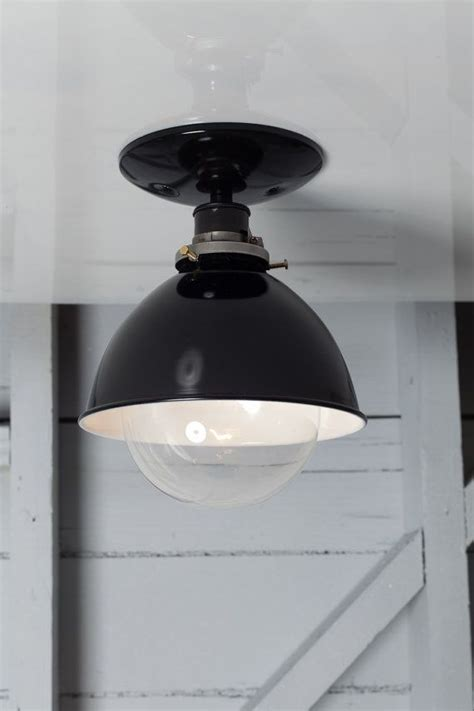 industrial ceiling mount light metal shade l semi