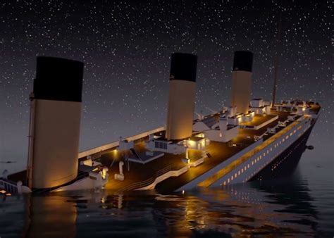 titanic sinks in real time is chillingly detailed video