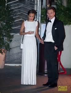 Alicia Vikander and Michael Fassbender Golden Globes
