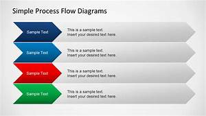 Simple Chevron Process Flow Diagram For Powerpoint