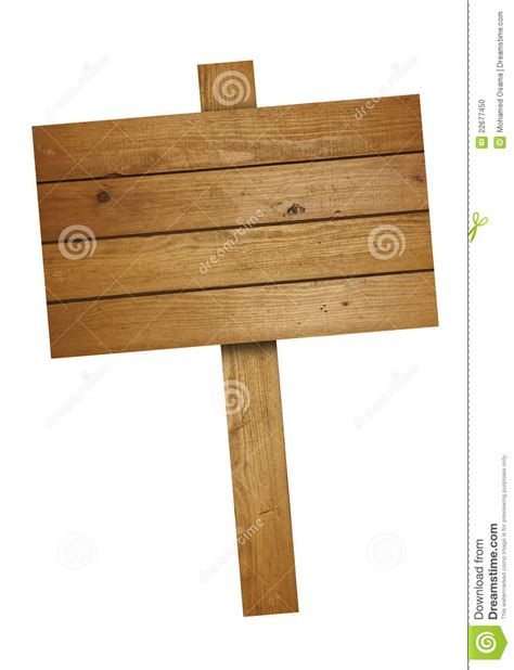 brown wooden road sign stock photo image