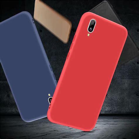 silicon slim black matee vivo v soft tpu phone cover for vivo y97 slim silicone shockproof matte skin protective back for