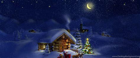 Christmas Night With Santa 4k Ultra Hd Wallpapers Desktop Background