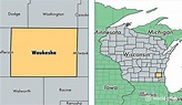 Waukesha County, Wisconsin / Map of Waukesha County, WI ...