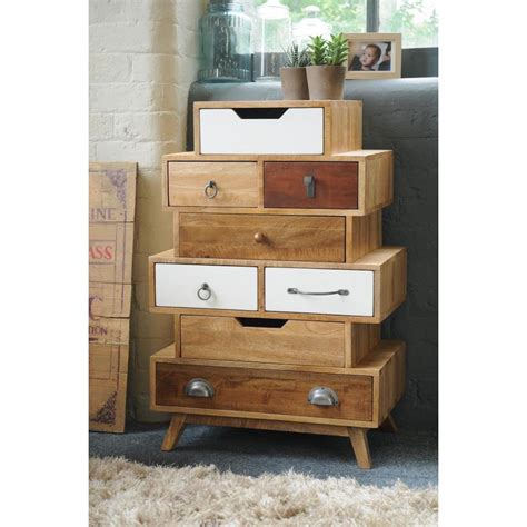 vintage stacked storage chest  drawers living room