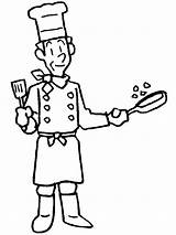 Helpers Chef Coloring Community Helper Cook Clipart Master Pages Colouring Printable Drawing Fat Printables Enjoy sketch template