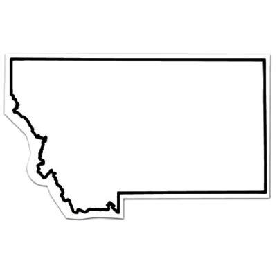 montana state colors magnet montana state shape color