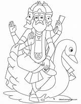 Brahma Hindu Coloring Lord Pages Gods Simple Vishnu God Drawing Children Template Sketch Colouring Shiva Drawings Printable Sheets Bestcoloringpages Print sketch template