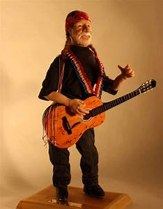 Willie Nelson sculpture. Polymer Clay with soft body over ...