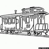 Coloring Train Caboose Engine Steam Clip Locomotive Trains Clipart Sheets Drawing Boys Printable Engines Tram Trolley Sheet Colors Thecolor Presentations sketch template