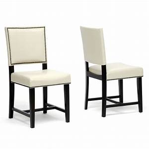 a affordable furniture white leather dining room chairs With white leather dining room chairs