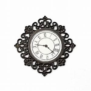 E3585, -, Black, Fancy, Wall, Clock