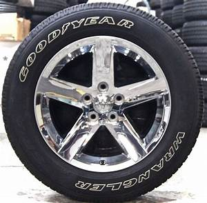 New dodge ram chrome 20quot factory oem wheels rims white for 20 white letter tires