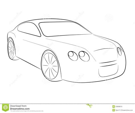 cartoon car black and white cartoon silhouette of a car stock vector image 23668610
