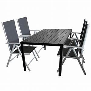 Gartentisch Non Wood : 5tlg terrassenm bel set sitzgruppe 4x hochlehner klappstuhl pulverbeschichtet ~ Eleganceandgraceweddings.com Haus und Dekorationen