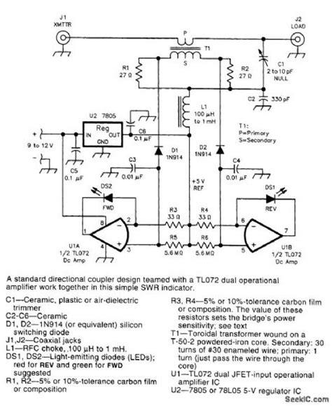 led swr indicator circuit measuring and test circuit circuit diagram seekic