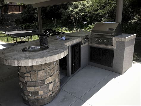 how to build an outdoor kitchen island custom outdoor kitchen with rock backyard designs