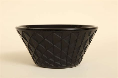 deco black etched glass bowl by jean luce at 1stdibs