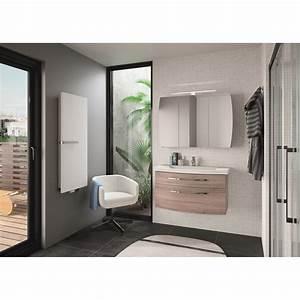 Meuble Salle De Bain Marron : meuble de salle de bains de 80 99 marron image leroy merlin ~ Melissatoandfro.com Idées de Décoration