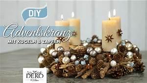 Deko Für Adventskranz : diy h bscher adventskranz mit kugeln zapfen how to deko kitchen youtube ~ Buech-reservation.com Haus und Dekorationen
