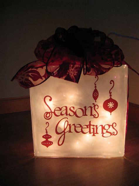 paper scissors ink christmas glass block with vinyl