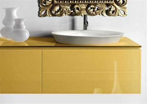 Yellow Bathroom Vanity Tops by Modern Yellow Bath Vanity And Countertop Sink By Artelinea