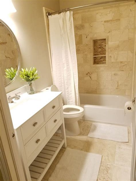Small Bathrooms Remodeled by Small Bathroom Remodeled With Travertine Walls And Floor