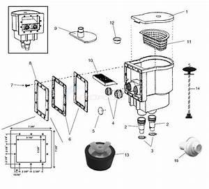 Muskin Model A2078  U0026 Model 82078 Skimmer    Inlet Parts