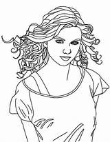 Coloring Singer Country Swift Taylor Pages Female Drawing Singers Printable Getdrawings Getcolorings sketch template