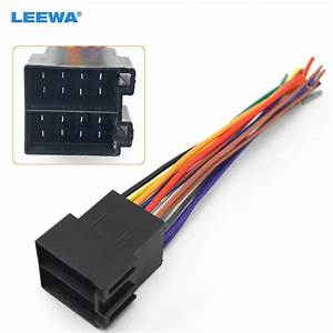 Leewa 5pcs Universal Male Iso Radio Wire Wiring Harness