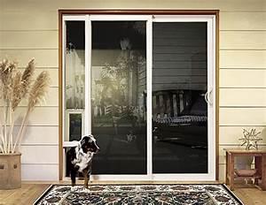 Adding a sliding glass doggy door sliding glass door for Removable dog door for sliding glass door